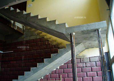 Монолитная лестница в офис, Арамиль. Уралтермопласт