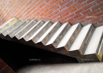 """Монолитная лестница, п. Растущий (к/п """"Алые паруса"""")"""