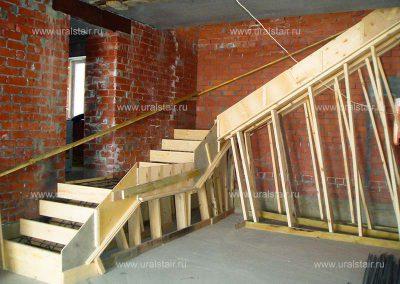 Опалубка для монолитной лестницы, Черданцево