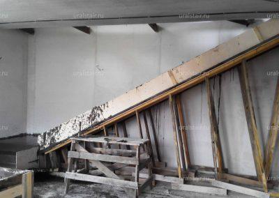 Заливка монолитной лестницы