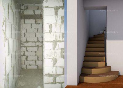 Проектирование монолитной лестницы, Косулино