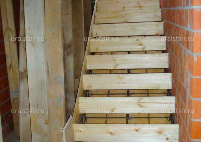 Монтаж опалубки для монолитной лестницы, Малое Седельниково
