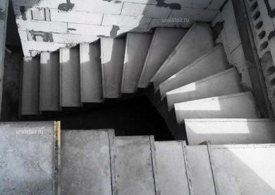 Индивидуальная монолитная лестница
