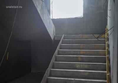 Монолитная лестница в офисном здании, Полевской